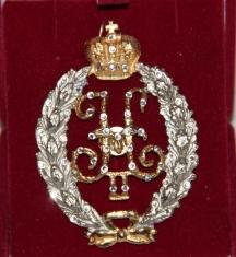 Знак Свита Императора Николая II с хр.swarovski