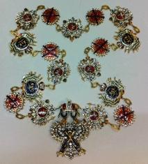 Цепь ордена Святого Андрея Первозванного (с хрусталём)