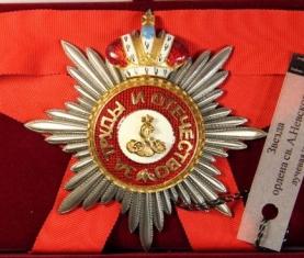 Звезда ордена Святого Александра Невского лучевая (с короной)