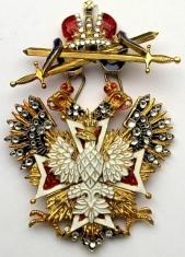 Крест орден Белого орла (с мечами, с хрусталем swarovski)
