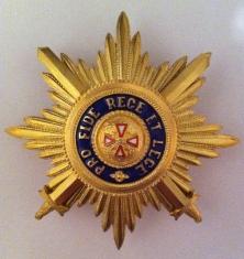 Звезда ордена Белого орла лучевая (с мечами)