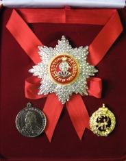 Набор орд.Св.Екатерины (Екатерининский) с хрусталем swarovski