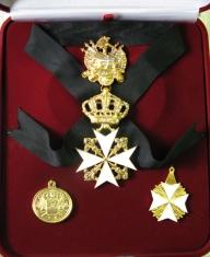 Набор орд.Св.Иоанна Иерусалимского (Мальтийский) с хрусталем swarovski
