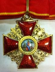 Крест  ордена Святой Анны 1 ст.