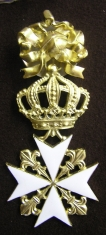 Крест ордена Святого Иоанна Иерусалимского мальтийский, командорский (с бантом)