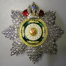 Звезда ордена Святого Станислава (с короной, с хрусталем)