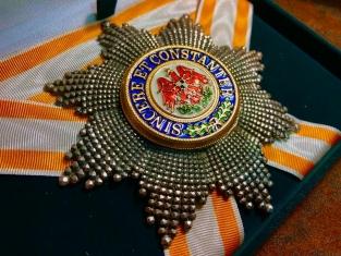 Звезда Ордена Красного Орла (Пруссия) бриллиантовой огранки (гранёная)