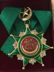 Знак Ордена Османие с хрусталём  (Турция)