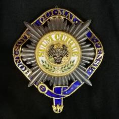 Звезда Ордена Чёрного Орла (Пруссия) (Лучевая), объединённая с орденом Подвязки