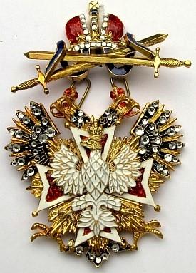 Крест орд.Белого орла (с мечами,с хрусталем swarovski)