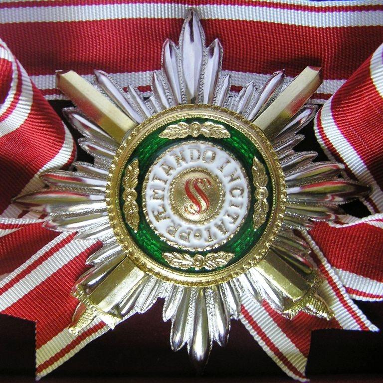 Звезда орд.Св.Станислава лучевая (с мечами) Реверс