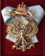 Крест ордена Святого Андрея Первозванного (с мечами,с хрусталем swarovski)