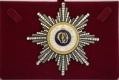 Звезда орден Святой Ольги лучевая (с хрусталем swarovski)