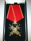 Крест ордена Святой Анны 3 ст. (с мечами, чёрной эмали)