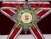 Звезда ордена Святого Станислава (с мечами,с короной,с хрусталем swarovski)